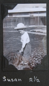 Sue in Garden, age 3