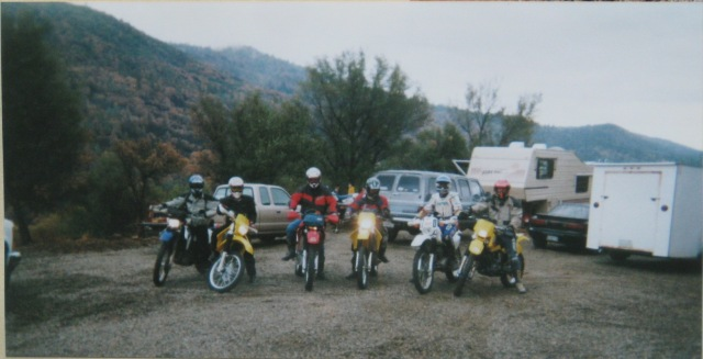 The dualsport riders off on adventure, looking for new trails