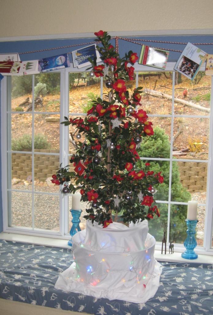 Yuletide Camellia Christmas Tree