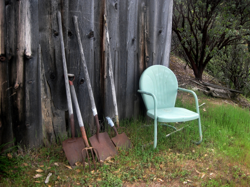 Old tools and Grandma's chair