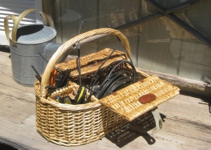 Best tip, carry all your supplies with you when you work on your system. This one is a picnic basket with neat dividers