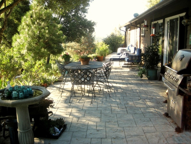 Patio in 2011 now a place to relax with friends, barbeque and watch the mountain, talking over the day's events if any