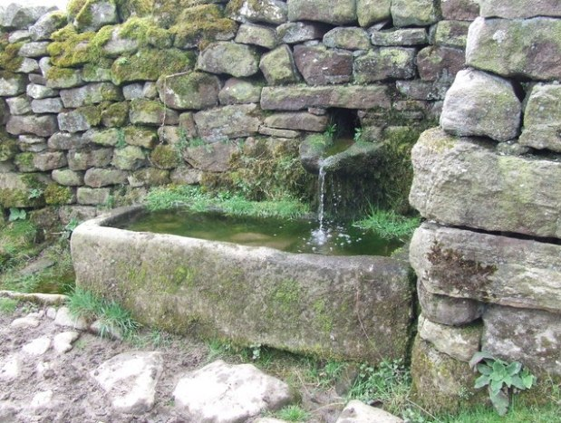 Traditional Stone Water Trough in Britain