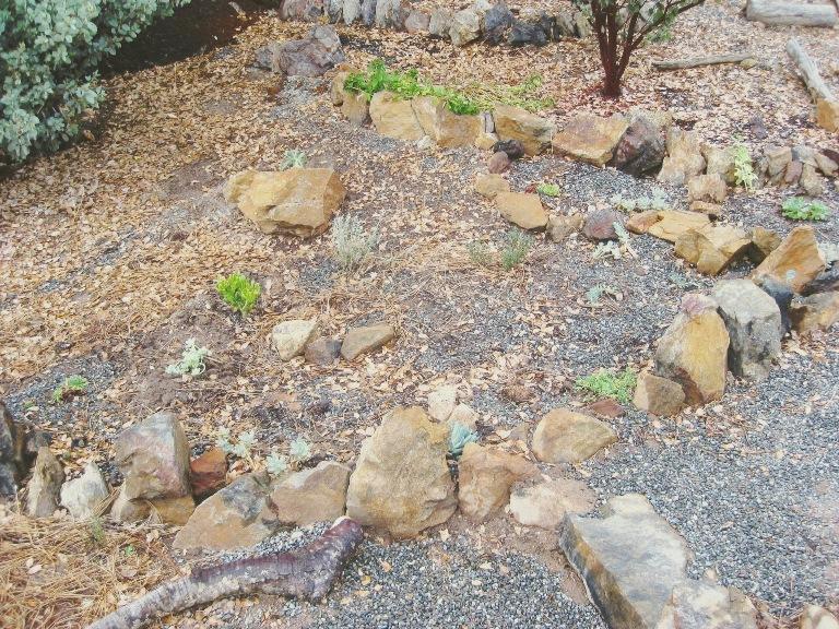 2010-9 Path built, gravel spread in rock garden