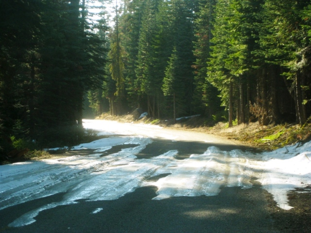 Ice on the road caused us a short detour