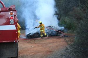 2007 Jan 20-Stolen car fire put out by fireman