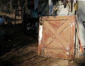 Dutch door after scraping and sanding